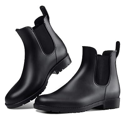 DAWAN Women's Anti-Slip Rain Boots Short GardenShoes Waterproof Chelsea Booties | Rain Footwear