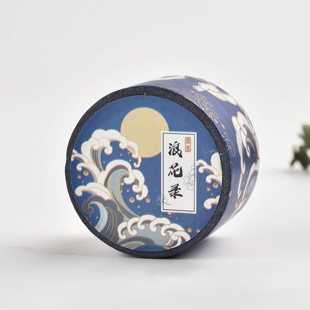 STOBOK Conjunto de Cinta Adhesiva Colecci/ón de Cintas Washi Artesanales Decorativas de Elementos Chinos para Suministros de Scrapbooking de Bricolaje Y Envoltura de Regalos 4 Rollos