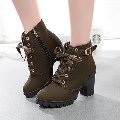 eca3ad70998c Amazon.com  Gyoume Women Ankle Boots