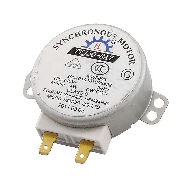 AC 220-240V 4W 4RPM Micro motor síncrono de microonda: Amazon.es ...