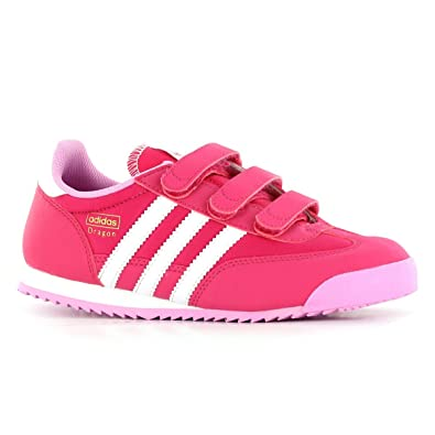 online store aa913 25b22 Adidas Dragon CF C Pink Kids Trainers Size 11 UK  Amazon.co.uk  Shoes   Bags