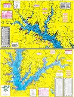 Hook-N-Line F112 Choke Canyon Fishing Map with GPS Numbers
