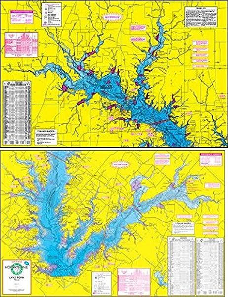 fishing hot spots lake maps Amazon Com Topographical Fishing Map Of Lake Fork With Gps fishing hot spots lake maps