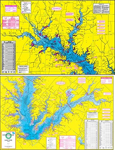 Lake Fork Map Amazon.: Topographical Fishing Map of Lake Fork   With GPS