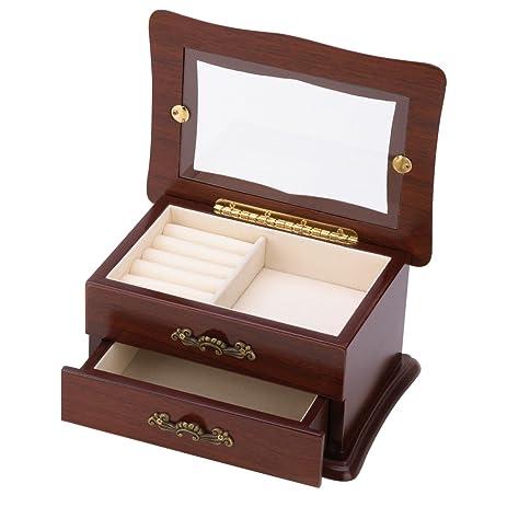 Amazoncom Keepsake Window Jewelry Box Organizer Storage