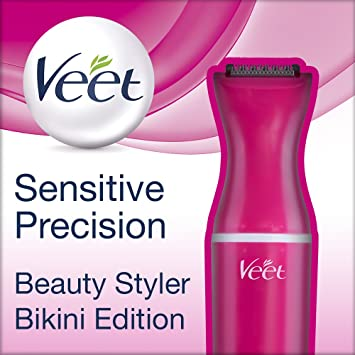 99a566f72 Veet Sensitive Precision Styler Beauty Bikini Edition Precision Trimmer for  Face and Body with 3 Silicone