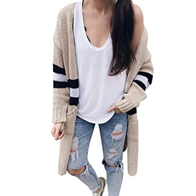33668344bb968 COTTONI-Coat Women's Long Sleeve Knitwear Lady Open Front Cardigan Sweaters  Casual Outerwear at Amazon Women's Coats Shop