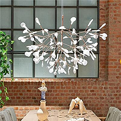 LightInTheBox 30 LED Chandeliers Innovation Firefly Pendant Light Modern Northern Europe Modern Creative Snowflake Tree Leaf Pendant Lamps Warm White