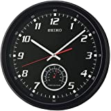Seiko 35cm . Wall Clock with Thermometer