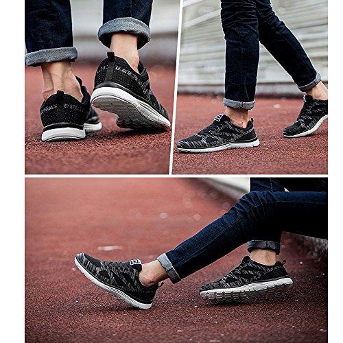 Mens Walking Schuhe Leichte atmungsaktive Laufschuhe Mesh Fashion Sneakers für Männer Schwarz