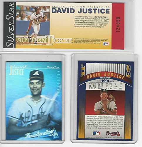 Silver Star Casting (David Justice (Baseball Card) 1991-92 Silver Star Holograms - AuthenTickets)