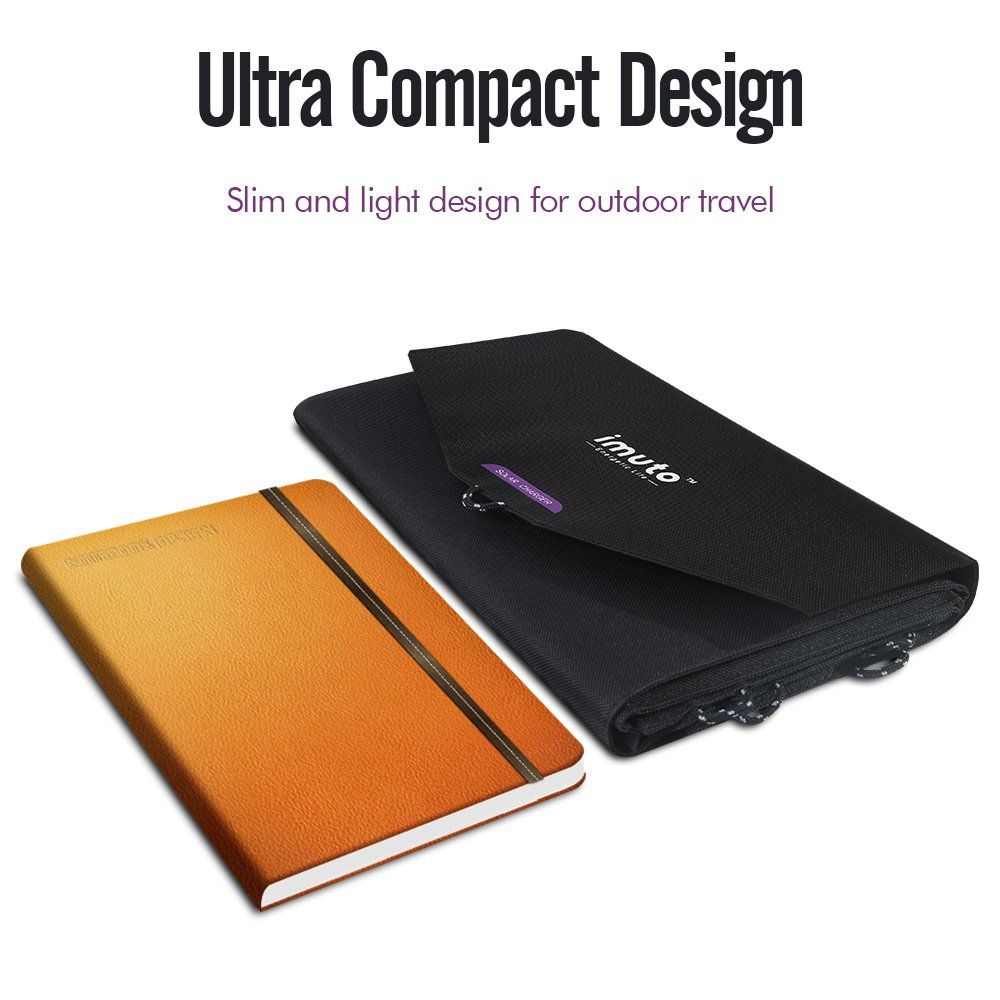 imuto 36W Solar Charger Solar Panel with 5V 2.7A USB Output + 18V 1.5A DC Output SunPower Foldable High Efficiency Charger for Laptop, iPad, iPhone, Samsung, Acer, Dell, HP, Lenovo and more by imuto (Image #6)