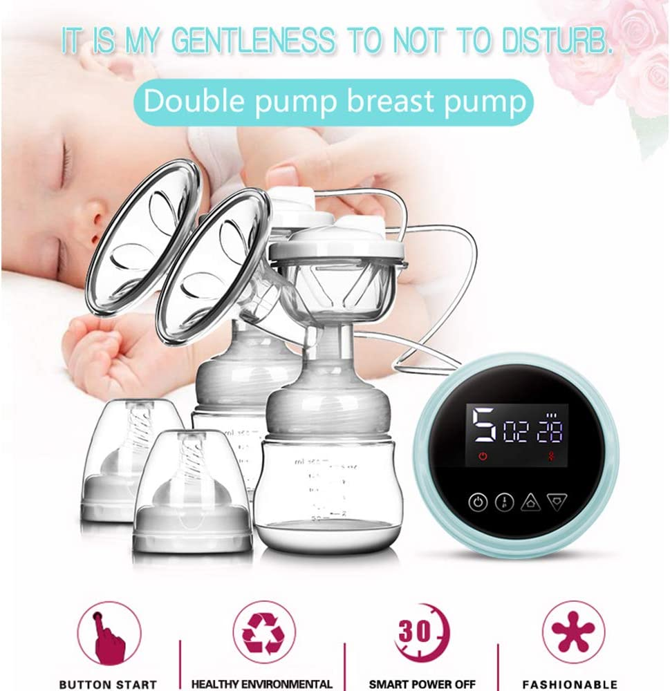 Electric Breast Pump Rechargeable Portable Double Electric Breastfeeding Pump for Breast Milk Feeding 3 Adjustable Mode /& 9 Pumping Suction Levels for Breast Milk Suck and Breast Massage