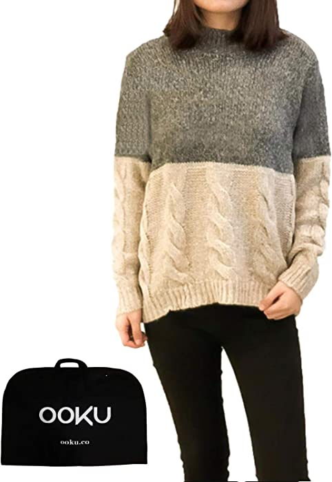 908d94ff76 OOKU Knitted Round Neck Loose Warm Long Sleeve Women Sweater Chunky Pullover  Top - Apricot