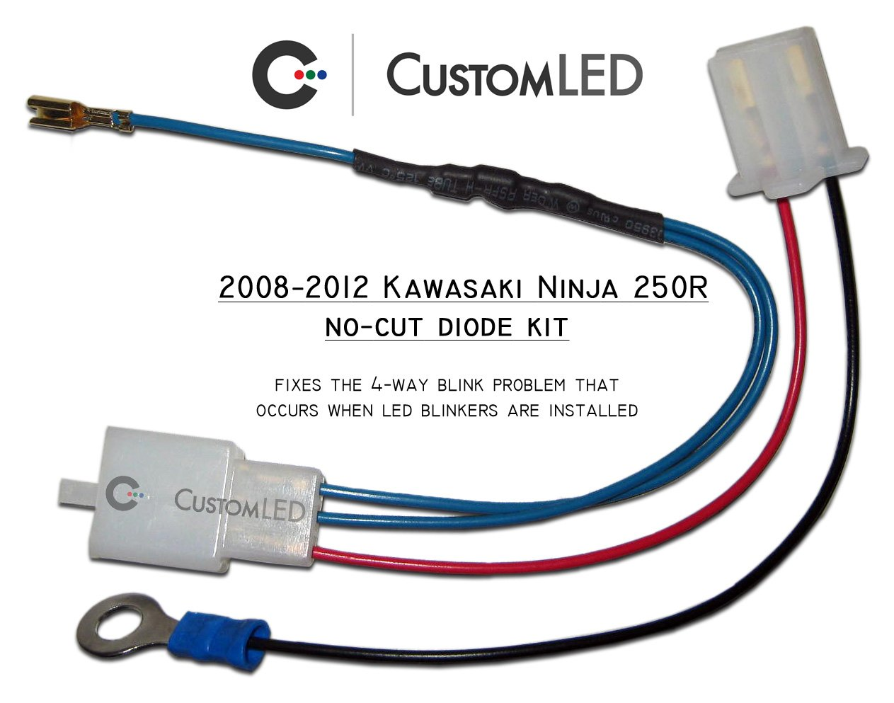 Both Led Turn Signals Blinking Kawasaki Ninja 250r Wiring Harness Diagram