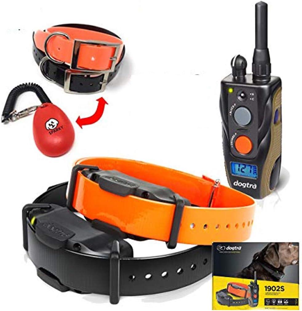 Dogtra-1902S 2-Dog- Bonus 2 Free Straps and SPC Dog Training clicker System