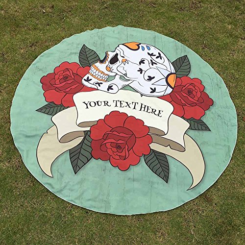 ROLYPOBI Round Printing Hippie Tapestry Beach Picnic Throw Yoga Mat Towel Blanket for Travel