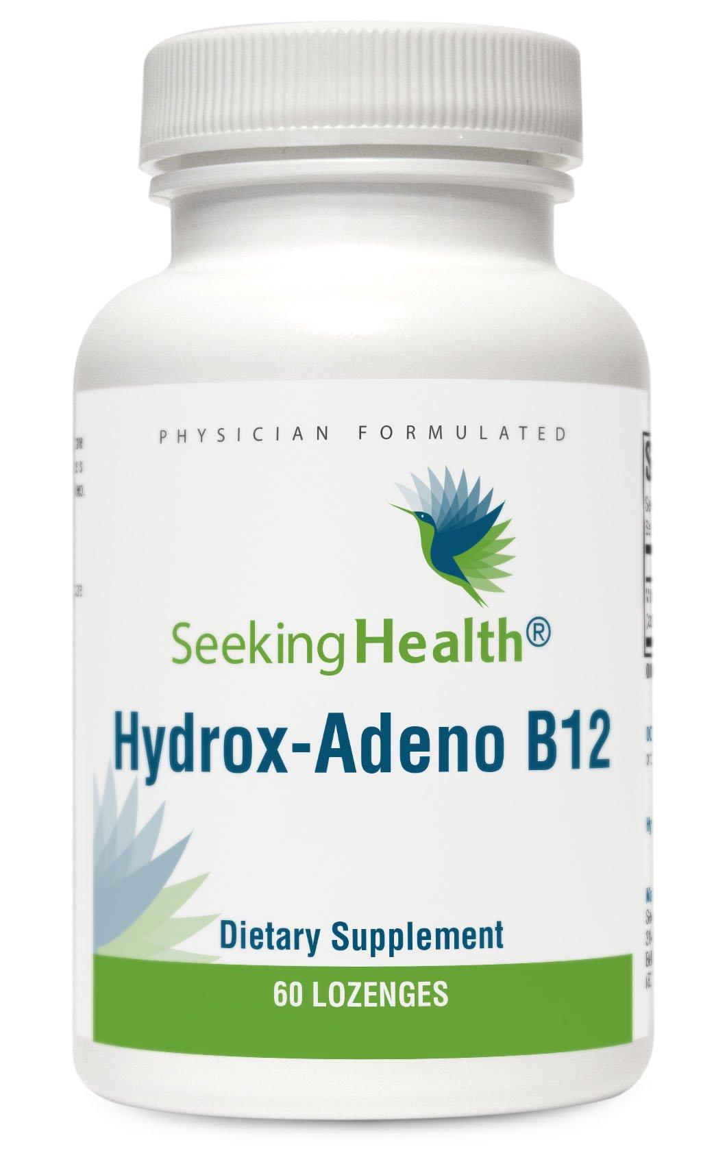 Seeking Health Hydrox-Adeno B12 | 60 Lozenges | Potent B-12 Vitamin | Adenosylcobalamin | MTHFR Supplements