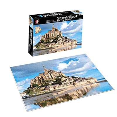 Longra Educational Toys Puzzles Adults Puzzles 500 Piece Landscape Puzzle Game Interesting Toys Jigsaws Picture Puzzles Assembling Games: Home & Kitchen