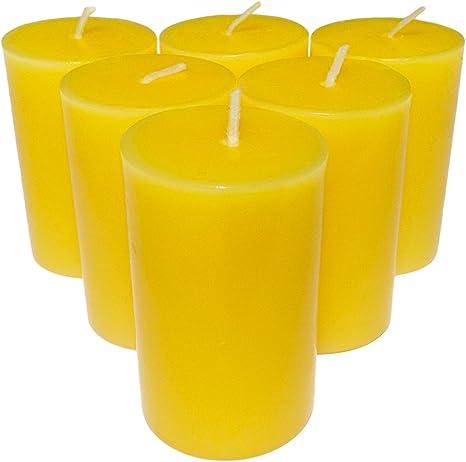 Bougies cylindriques Collumino/® de couleur unie bleu marine Lot de 6 dimensions : 7 /× 4,3/cm