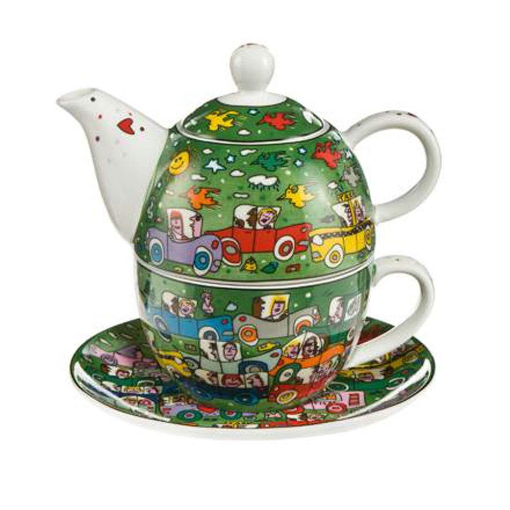 Goebel Crosstown Traffic Tea for One Pop Art James Rizzi Bunt New Bone China 26102351