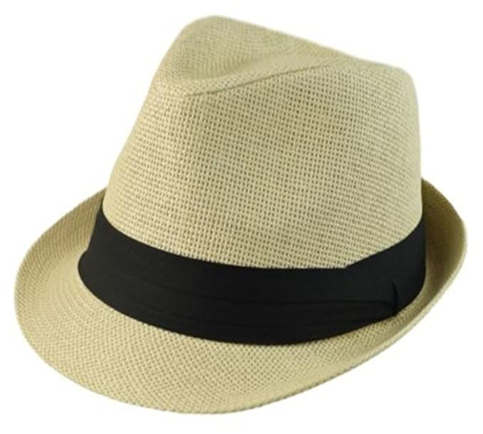 2bb20ac2a74382 The Hatter Men's Big Size Summer Cool Straw Fedora Hat at Amazon ...