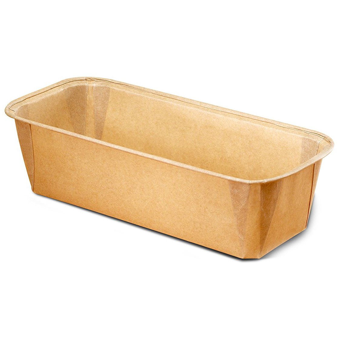 Paper Bakeware Loaf Pan,bake your Loafs Cakes, Banana Cake, Seed Bread. Anything you wish to bake in a rectangular shape Size L 6 1/5'' x W 2 1/5'' x H 2'' Model 8015550G (675)