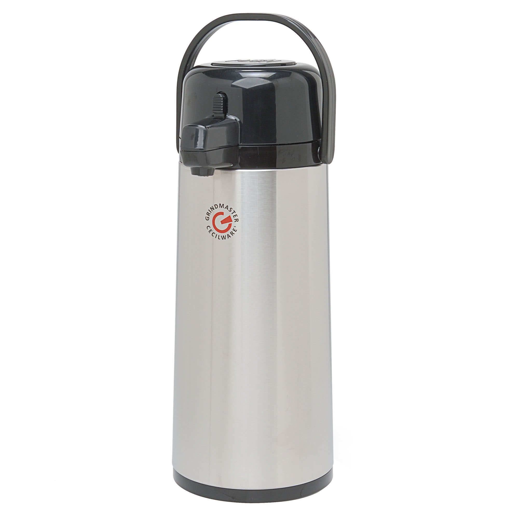 TableTop King 70768-C 2.2 Liter Glass Lined Airpot with Push Button - 6/Case