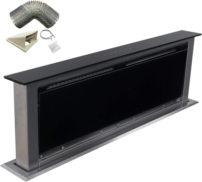 Sia 90 cm Touch Control Downdraft Ventilador Extractor de campana negro + 3 M): Amazon.es: Grandes electrodomésticos