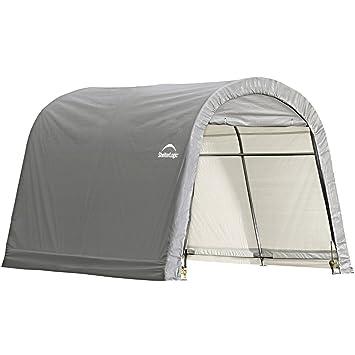 ShelterLogic Round Style Storage Shed, 10 X10 X 8 Feet , Grey