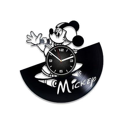 037aca92b8 DecorStudioUA Disney Clock 12 inch Mickey Mouse Clock Disney Gift for Kids Mickey  Mouse Wall Clock