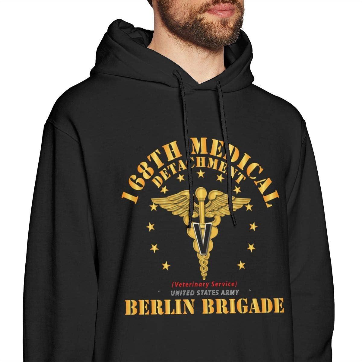 168th Medical Detachment Berlin Brigade Mens Pullover Hoodies Casual Hooded Sweatshirt