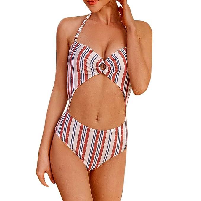 17b9d1d1b545 Qu-Hsrkocb Verano para Mujer Traje de Baño de Playa, Mujer Push-up ...