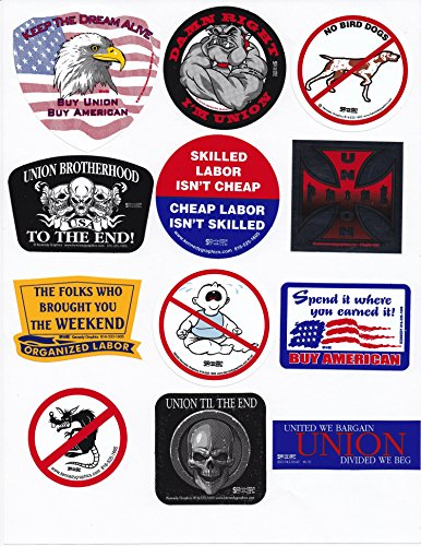 Union Hard Hat Sticker Mix 6 -- Our Best Sellers Pack (Hard Stickers Hat Union)