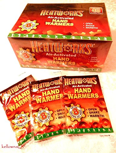 40 PAIRS OF HEATWORKS CAMPING SURVIVAL 8 HOUR HAND WARMER by kellownaQt