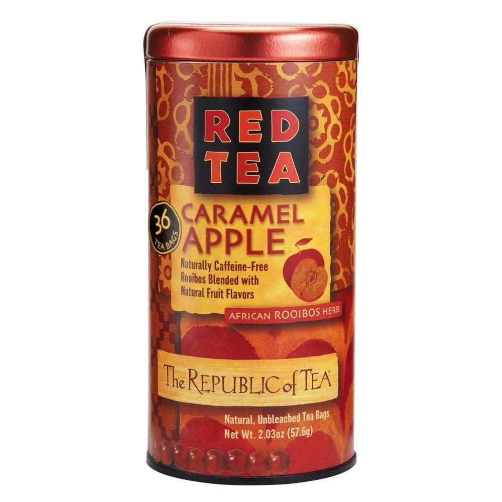 The Republic of Tea Carmel Apple Red Tea, 36-Count, Packaging may vary