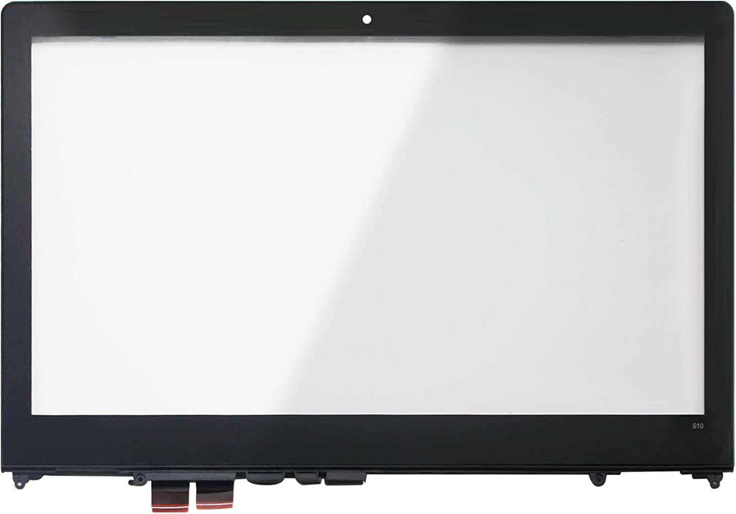 LCDOLED Replacement 15.6 inches Touch Screen Digitizer Glass Panel with Bezel for Lenovo Flex 4-15 4-1570 4-1580 80SB 80VE (Touch Digitizer + Bezel)