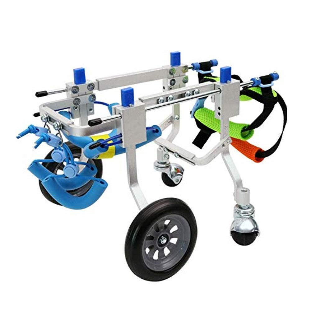 S Scooters,Pet Bicycles, Dogs Wheelchairs, 2 Wheels Large Auxiliary Bracket for Elderly Paralyzed Disabled Dogs,Leg Exercises, Dogs, Cats, Pigs (Size   S)