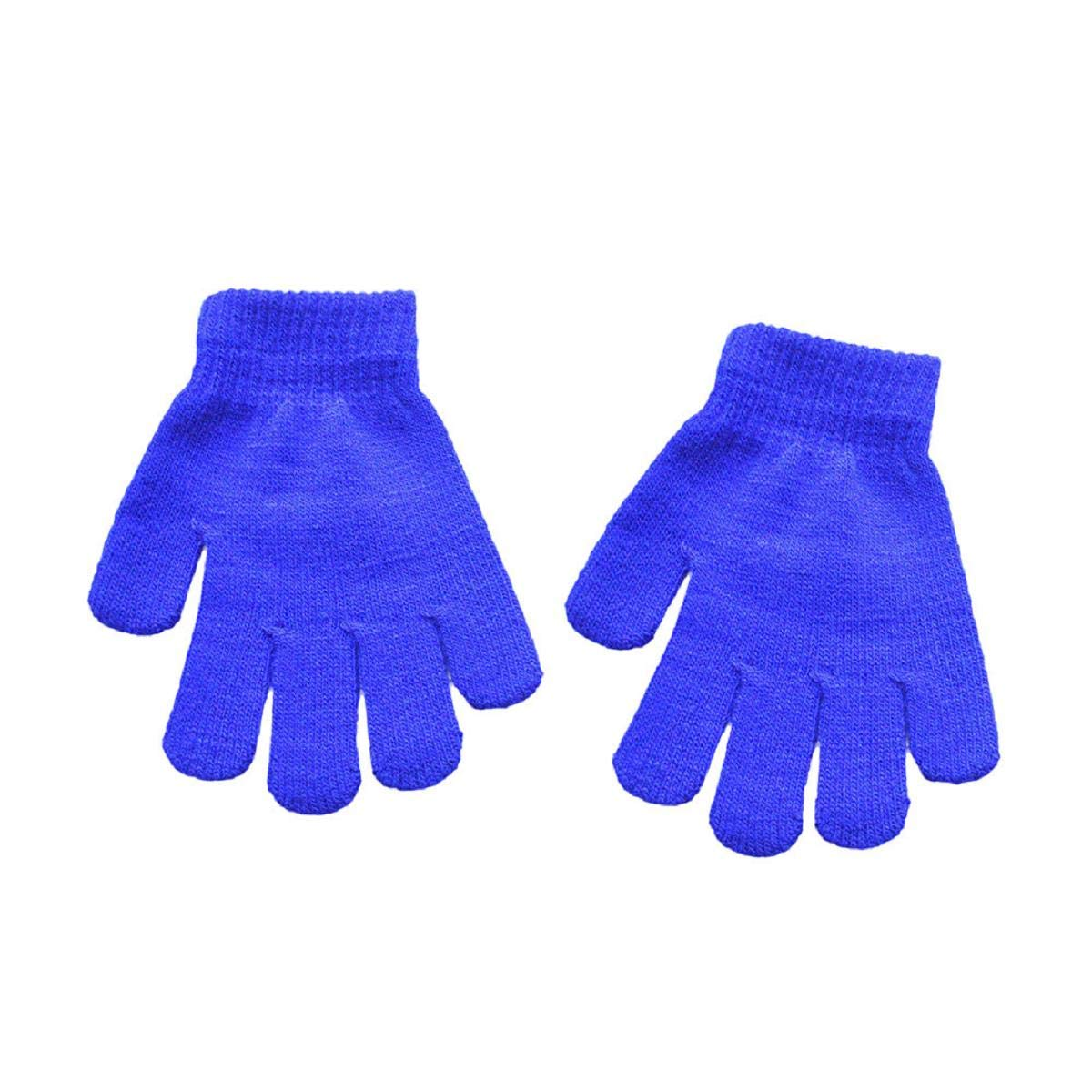 Birthday Gift /& Outdoor Winter Gloves Putars 1Pair Acrylic Infant Baby Cute Gloves -Solid Print Hot Girls Boys -Winter Warm Gloves