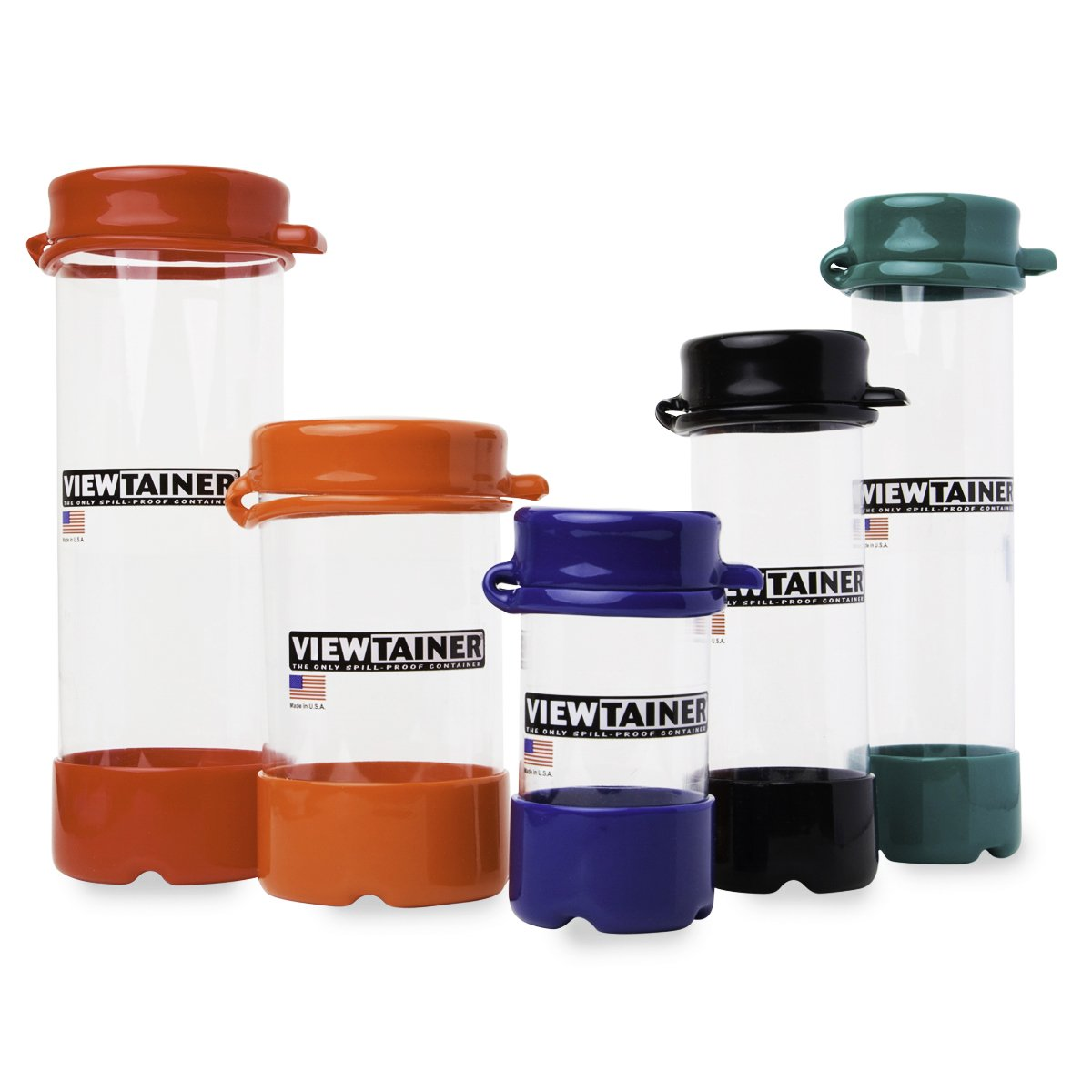 Viewtainer Tethered-Top Container 5-Pack (Pastel)