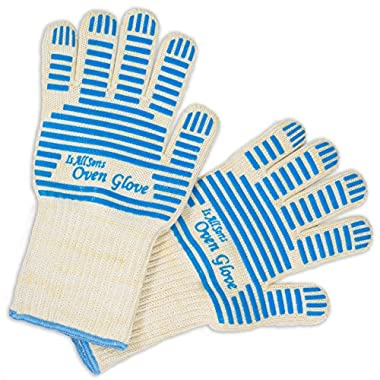 NEW CUTTING EDGE Long Silicone Oven Mitts Can be used as Grilling Gloves-Baking Gloves-Cooking Gloves And BBQ Gloves-Standard Super grip-Extreme Heat Resistant-Best Buy Gift