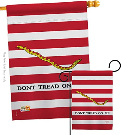 Amazon Com Breeze Decor Historic 1st U S Navy Jack Garden House Flags Set Patriotic July Memorial Veteran Independence United State American Small Decorative Gift Yard Banner Double Sided Made In Usa 28 X