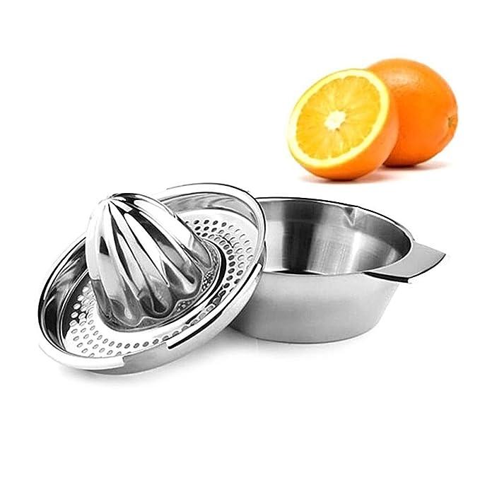 Compra Manual exprimidor, exprimidor ZUMO DE NARANJA Lima Limón eléctrica de acero inoxidable colador con mango de bol pour caño para hogar bar cocina en ...