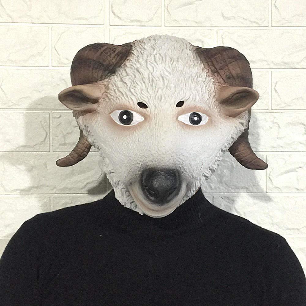 TGCYMYY Accesorios de ejecución Linda Cabeza de Cabra máscara ...