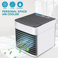 GESUNDHOME Aire Acondicionado Móvil, 3en1 Mini Ventilador Humidificador Purificador de Aire Personal USB Climatizador Portátil [Sin Freón] para Casa/Oficina