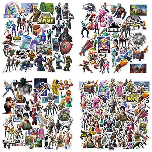 Price comparison product image 100 Pcs Fortress Night Game Sticker,Birthday Party Stickers Decorations for FORTNITE Gamers,Laptop, Travel Case Stickers,Waterproof Game Stickers