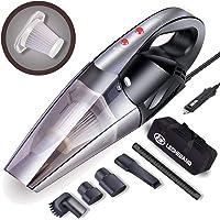 LB LECHEBANG Black Cleaner for car with LED Light DC 12V 120W Potable Handheld Auto Vacuum Filter Carry Bag