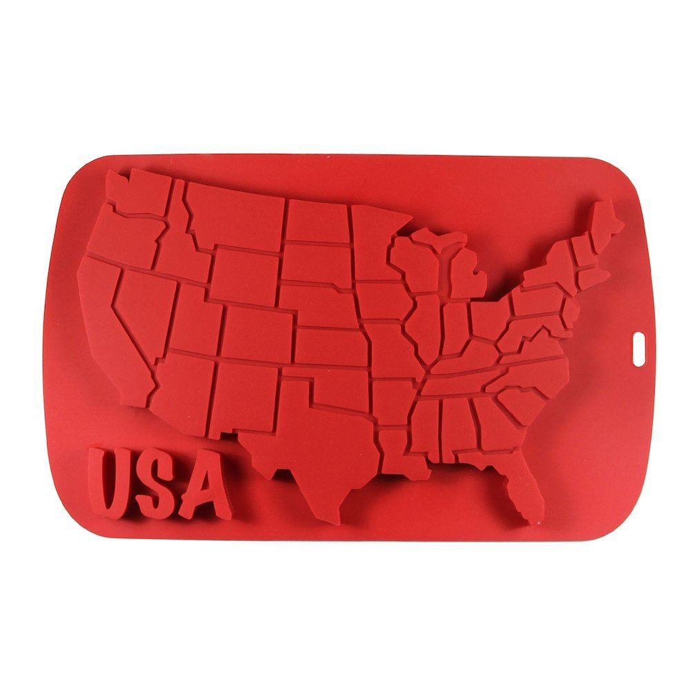 USA Map Multi Cavity Silicone Mold Baking & Party Candy & Cake Making Molds