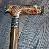 oleksandr.victory Canes Walking Sticks Wood Reeds Bronze Wooden stabilized BURL Handmade Cane Stick Men's Accessories Stabil2