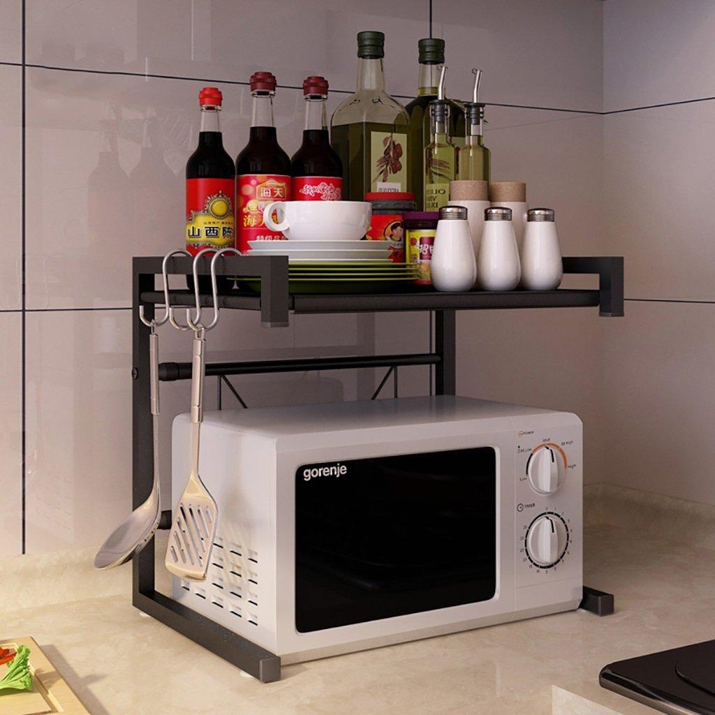 Étagères de cuisine Étagères télescopiques de cuisine étagères micro - ondes de stockage de étagères de stockage multi -